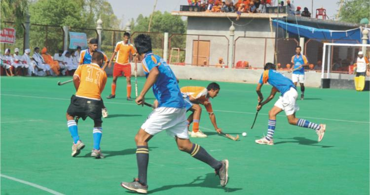 Astroturf hockey ground  at Seechewal
